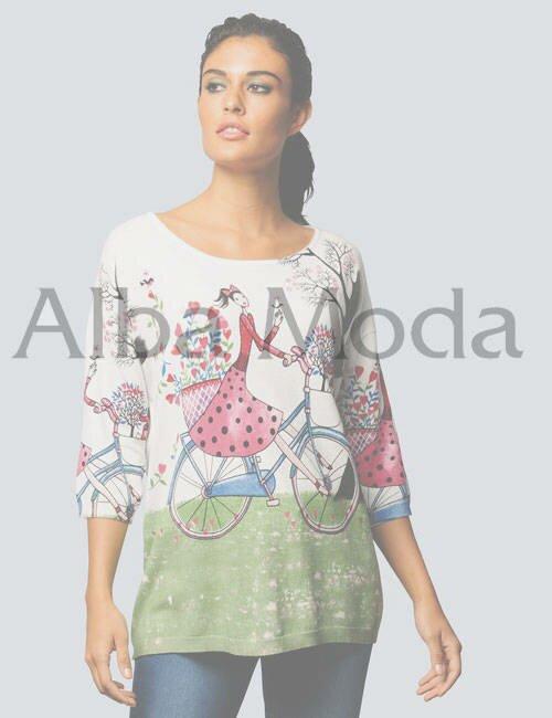 женская блуза с цветочным принтом