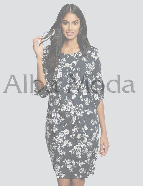 женское платье с принтом Alba Moda (Альба Мода)
