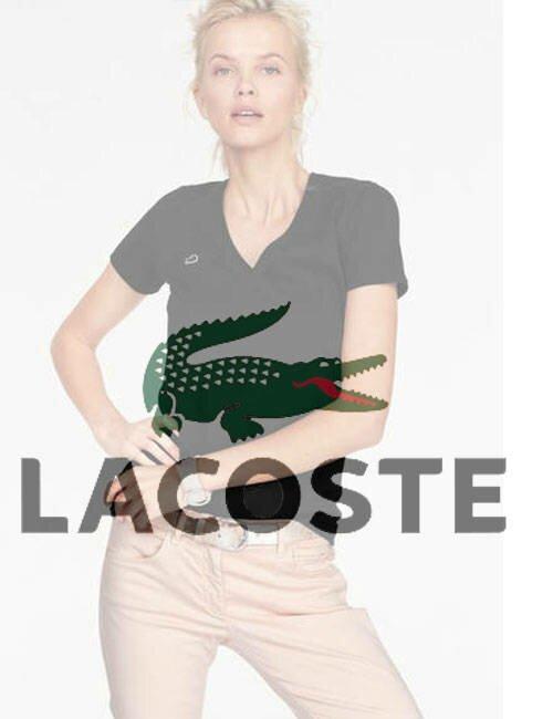 Женская футболка Lacoste (Лакост)