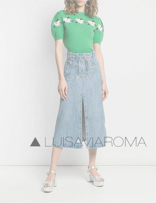 женская джинсовая обка LuisaViaRoma (ЛуизаВиаРома)