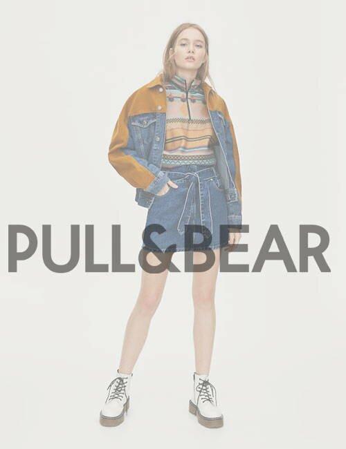 женская джинсовая юбка Pull&Bear (Пул энд Бир)