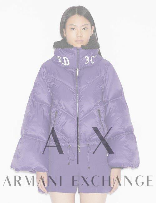 Женский пуховик Armani Exchange